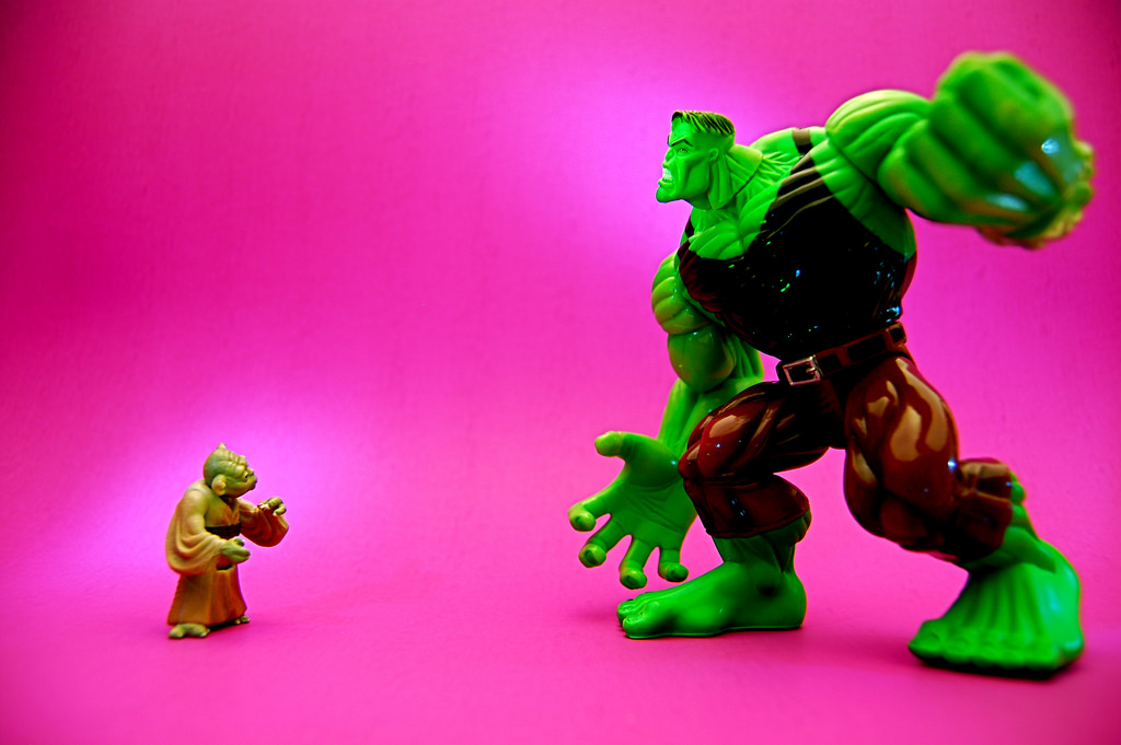Yoda vs the incredible hulk - size isn't the only thing that matters
